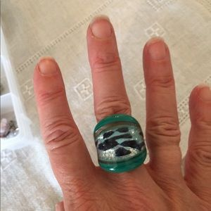 Italian murano glass ring